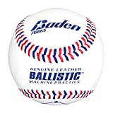 Baden Ballistic Leather Pitching Machine Baseballs, (One Dozen)