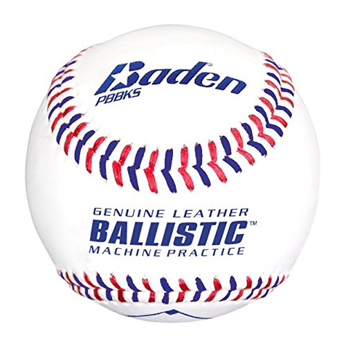 ballistic leather pitching machine baseballs