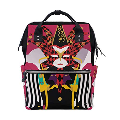 Costume Joker Red School Backpack Large Capacity Mummy
