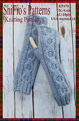 Knitting Pattern - KP470 - ladies fingerless gloves / open mitts / wrist warmers- UK Terminology