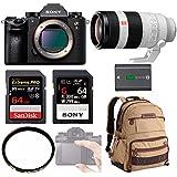 Sony a9 Full Frame Mirrorless Camera (ILCE9/B) + Sony FE 100-400mm GM OSS + Sony SF-G 64GB + Sony NPFZ100 Batt