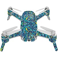 Skin For Yuneec Breeze 4K Drone – Blue Veins | MightySkins Protective, Durable, and Unique Vinyl Decal wrap cover | Easy To Apply, Remove, and Change Styles | Made in the USA