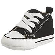 Converse Baby Boys' Chuck Taylor First Star HI (Infant) - Black/White - 1 Infant