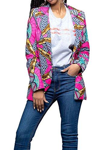 Femmes Rouge Caftan Africain Costume Dashiki Porter GLADTHINK Culturel Dcontracte df7xqawz