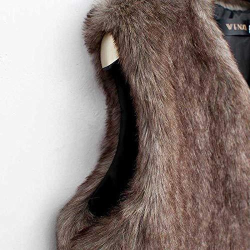 Amazon.com: Besde Womens Faux Fur Vest Sleeveless Long Hair Jacket Waistcoat