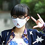 eMingo 6 pcs Kawaii Cute Mask Anti-Dust Kaomoji
