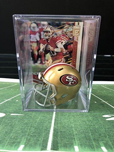 (San Francisco 49ers NFL Helmet mini Shadowbox w/Jimmy Garoppolo card)