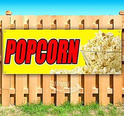 Popcorn cartel de vinilo resistente de 13 onzas con ojales ...
