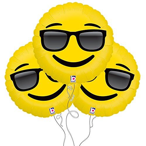 Too Cool Sunglasses Emoji Mylar Balloon 3 -