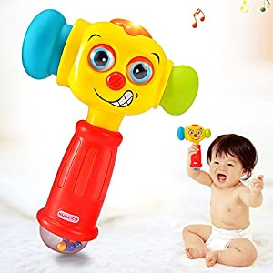 Baby Toys for 12-18 Months Funny Changeable Hammer with Multi-function,Lights and Music,Best Gifts for Early Educational for Toddlers,Boys and Girls 1,2,3 years old