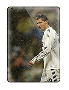 Durable Cristiano Ronaldo Real Madrid Back Case/cover For Ipad Air