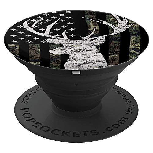 Buck Deer Hunting Camouflage Flag - PopSockets Grip and Stand for Phones and Tablets