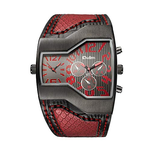 XBKPLO Classic Men's Quartz Watches Analog Wrist Vintage Machinery Alloy Dial Creative Design Watch Leather Strip Jewelry - Designs Cartier Jewellery