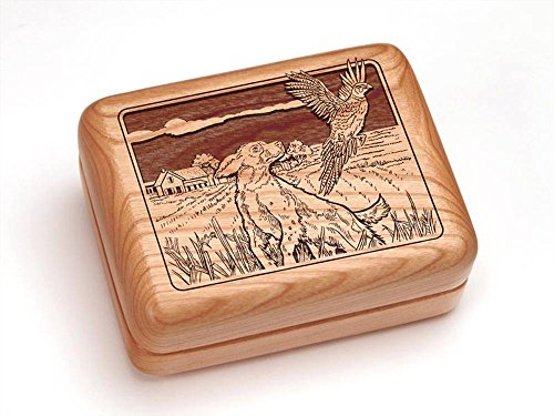 """Price comparison product image 4x3"""" Box With Money Clip / Pocket Knife - Dogs & Pheasant"""
