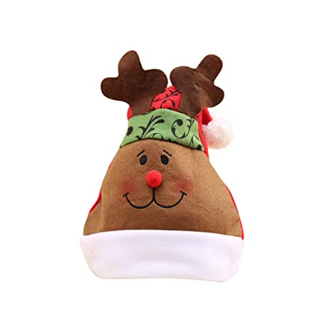 BESTOYARD Sombrero de Navidad Divertido Gorro de Reno de Santa para niños  Niños y Adultos Accesorios ed8da3fe9ed