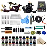 ITATOO Rotary Tattoo Machine Kit for Beginners Tattoo Power Supply Kit 20 Tattoo Inks 50 Tattoo Needles Complete Tattoo Kit Tattoo Supplies TK1000005
