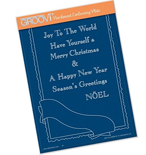 - Groovi Parchment Embossing Plate - Jaynes's Postcard Frame Template - Laser Etched Acrylic for Parchment Craft