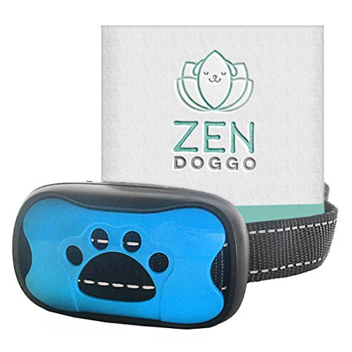 ZenDoggo Anti Bark Collar – NO SHOCK, SAFE – Small to Large Dogs & Puppies – Vibration & Sonic Sound – Humane Electronic Training Device to Stop Barking – 7 Automatic Sensitive Adjustable Levels
