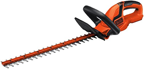 BLACK DECKER 20V MAX Cordless Hedge Trimmer, 22-Inch, Tool Only LHT2220B