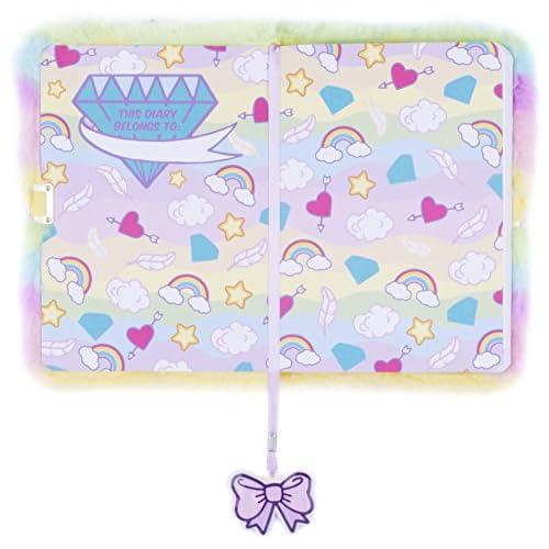 low-cost Fringoo® Las niñas niños peluche A5 cuaderno diario 3d con ...