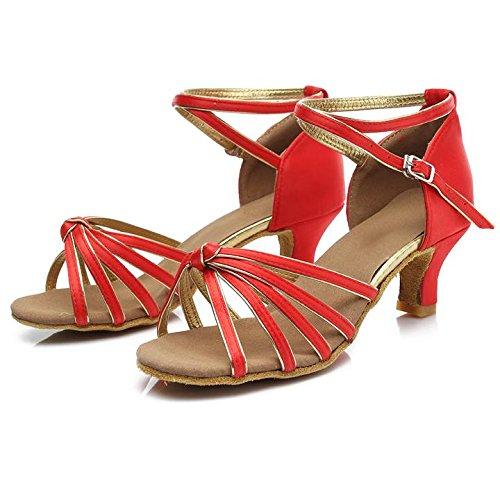 Salabobo - Zapatillas de danza para mujer Rojo rojo 2SFpAJuf