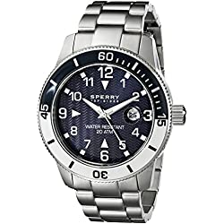 Sperry Top-Sider Men's 10014913 Diver Analog Display Japanese Quartz Silver Watch