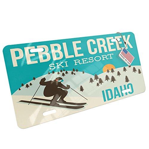 - NEONBLOND Pebble Creek Ski Resort - Idaho Ski Resort Aluminum License Plate