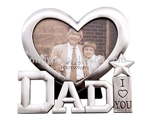 Fathers Day Gift from Daughter or Son - I Love You Dad Picture Frame - Best Dad Gift under 20 Dollars - Great For Dad Birthday Gift