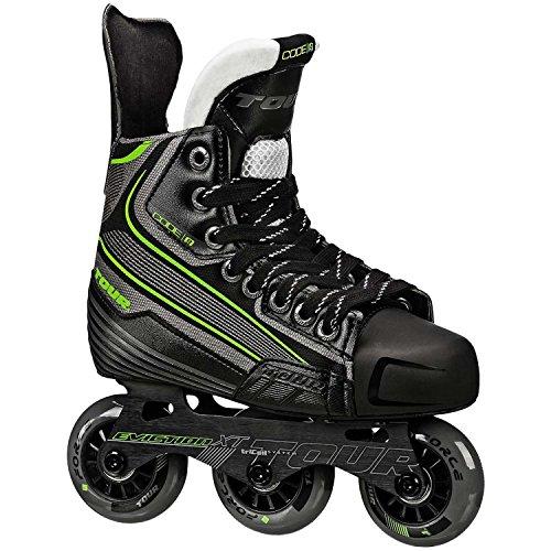 Tour Hockey Code 9 Jr Inline Hockey Skate, Black/White/Red, 03