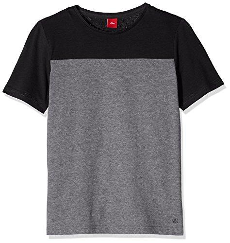 s.Oliver Jungen T-Shirt 61.607.32.2953, Grau (Dark Grey Melange Aop 98W9), 164 (Herstellergröße: L/REG)