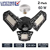 2-Pack Garage Lights 60W LED Garage Lighting