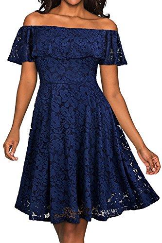 blue a line bridesmaid dresses - 2