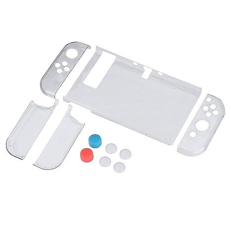 Vbestlife Funda para Nintendo Switch de Viaje 9 en 1 Carcasa Protectora con Cubierta de Nintendo para Consola Joycon con Interruptor, Material de AB