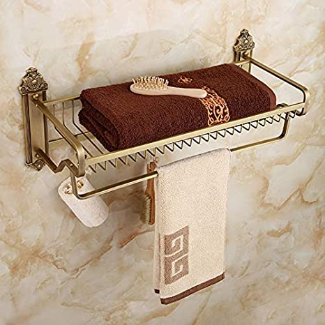Betty Estante para Toallas de latón Baño de baño Organizador de la Ducha/Estante de