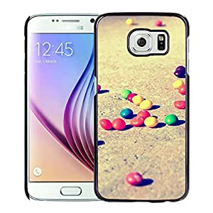 Beautiful Samsung Galaxy S6 Cover Case ,Colorful Candies On The Ground Black Samsung Galaxy S6 Phone Case Unique And Durable Designed Screen Case