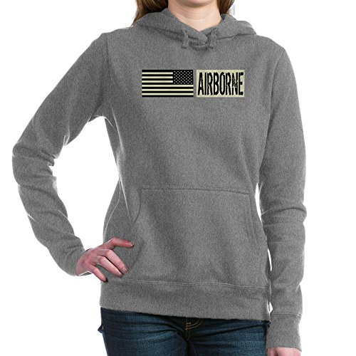 CafePress - U.S. Military: Airborne - Pullover Hoodie, Classic & Comfortable Hooded Sweatshirt Charcoal Heather