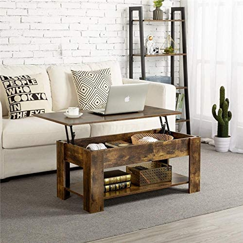 home, kitchen, furniture, living room furniture, tables,  coffee tables 2 image Yaheetech Rustic Lift Top Coffee Table w/Hidden in USA