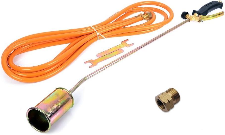 Gasbrenner Abflammgerät Brenner Unkrautvernichter Dachbrenner Adapter Gratis
