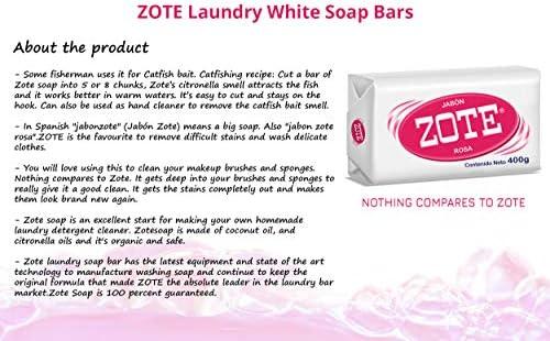 Zote - Juego de 2 jabones para lavandería, quitamanchas, detergente para ropa, cebo de pescado, jabón de viaje para lavar, ropa interior rosa, jabón de lavado (400 gramos): Amazon.es: Hogar