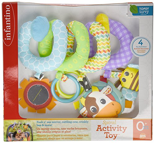 Large Product Image of Infantino Spiral Activity Toy, Blue