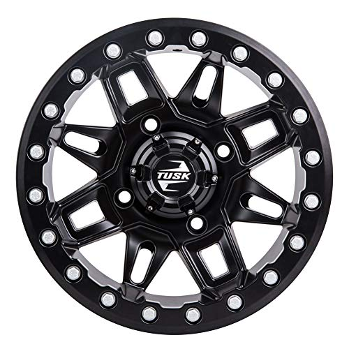 - 4/137 Tusk Wasatch Beadlock Wheel 14x7 4.0 + 3.0 Matte Black - Fits: Can-Am Maverick X3 Max X DS Turbo R 2017-2019