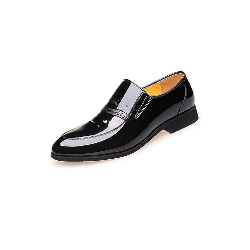 NIUMJ Herren-Frühjahr-Mode-Business-Casual Atmungsaktiv Im Freien Rutschfeste Hochzeit Schuhe Lederschuhe