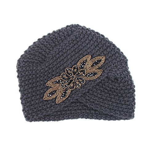 ♫2018 Fashion Hat,Womens Solid Cross-Studded Winter Warm Knit
