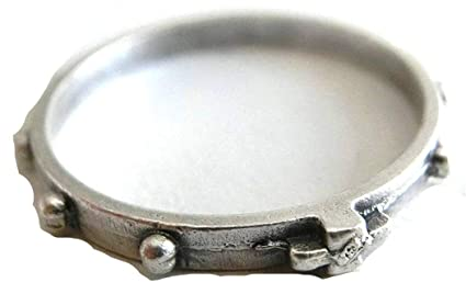 90.112.30 Anillo Rosario de dedo diámetro 18 mm Plata