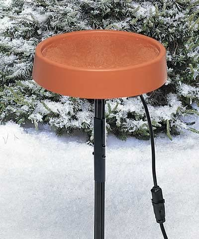 Amazon Com Bestnest Allied Precision Heated Bird Bath With Metal Stand Terra Cotta Garden Outdoor