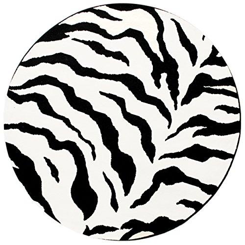 Zebra Round Animal Modern Carpet product image