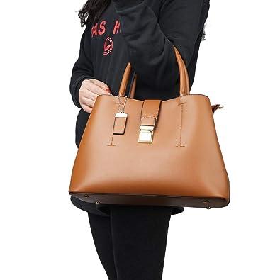 Amazon.com: Bolsas y bolsos de piel suave para mujer, bolso ...