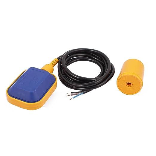 sourcingmap® Interruptor de flotador de fluido líquido Sensor de nivel de agua del depósito del sumidero amarillo controlador NO/NC: Amazon.es: Bricolaje y ...