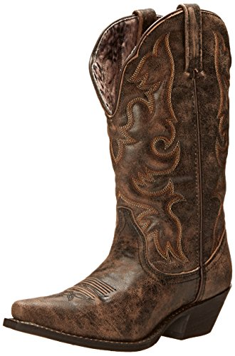 Laredo Women's Access Western Boot, Black/Tan, 11 M US