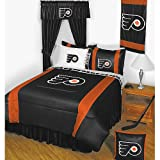 NHL Philadelphia Flyers 5 Pc Full Bedding Set Comforter and Sheets